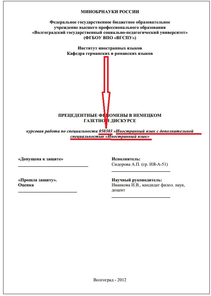 Нормативные документы ifl vspu ru obrazetz ukazhite svoi shifr spezialnosty
