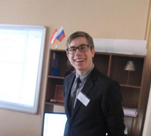 Стажёр из Австрии Бернхард Хауэр на кафедре германских и романских языков